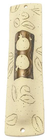 Bronze Pomegranate Mezuzah 16118M