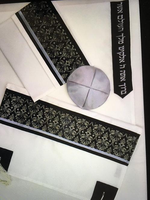 Black Talit Kippah and Tallit Case -0TM166
