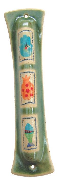Young Green Mezuzah 16112L