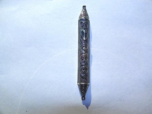 Filigree Sterling Silver Mezuzah 6 CM klaf-6501