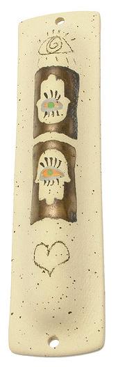 Bronze Hamsa Mezuzah 16119M