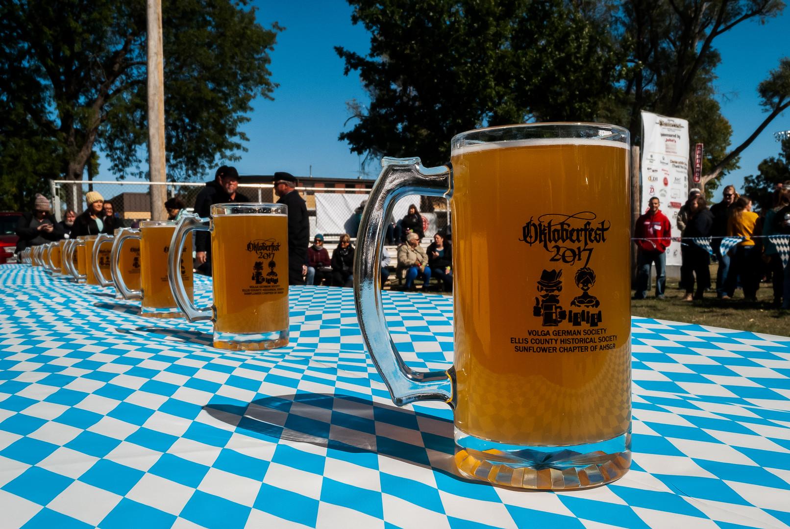 Stein holding contest OktoberfestHays