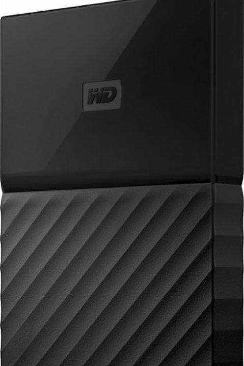 WD - My Passport 4TB External USB 3.0 Portable Hard Drive – Black