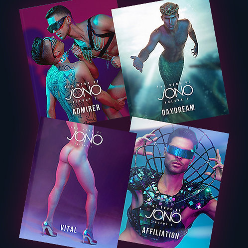 The Book of Jono Vol 2, 3, 4, & 5 Autographed