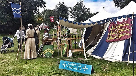 Dawn of Chivalry - Tees Tyne Wear - Medieval Reenactment - Armoury Tent