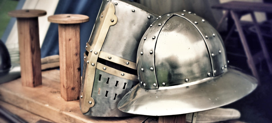 Dawn of Chivalry - Tees Tyne Wear - Medieval Reenactment - Helmets