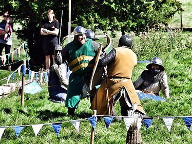 Dawn of Chivalry - Teesside Tyneside Wearside - Medieval Reenactment - Knights Fighting