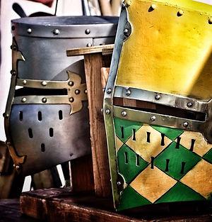 Dawn of Chivalry - Tees Tyne Wear - Medieval Reenactment - Helmets