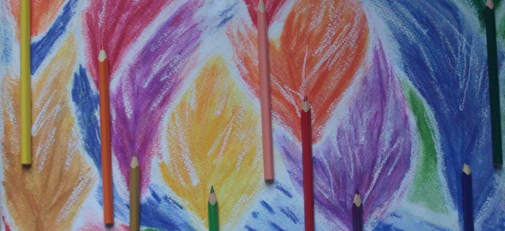 Un camino pintado en el bosque para Max o un camino para Max