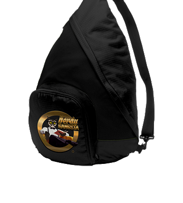 Nerdy Gangsta ™ Black Sling Backpack