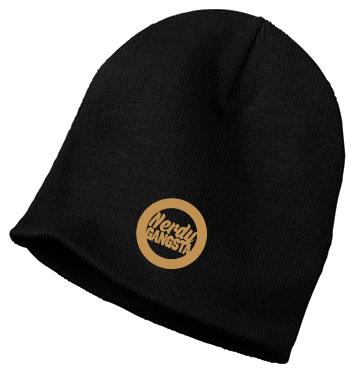 Nerdy Gangsta ™ Embroidered Beanie Hat 0 Shares
