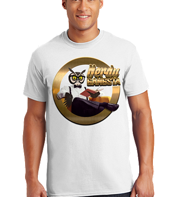 Nerdy Gangsta ™ Logo T-Shirt (Unisex) White