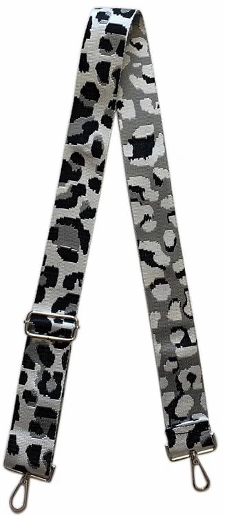 Ah-Dorned: Silver Ground Cheetah Strap