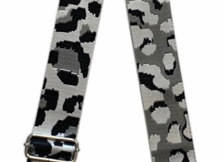 Ah-Dorned: Silver Ground Cheetah Strap