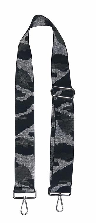 Ah-Dorned: Silver Camo Bag Strap