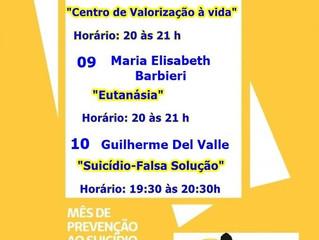"""Sociedade Espírita Vinha de Luz de Gravataí/RS promove ciclo de palestras no """"Setembro Amarelo"""" – Mê"""