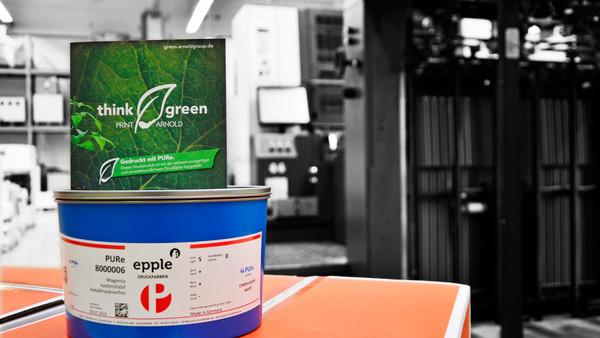 ARNOLD druckt jetzt PURe! Die nachhaltigste Druckfarbe der Welt.
