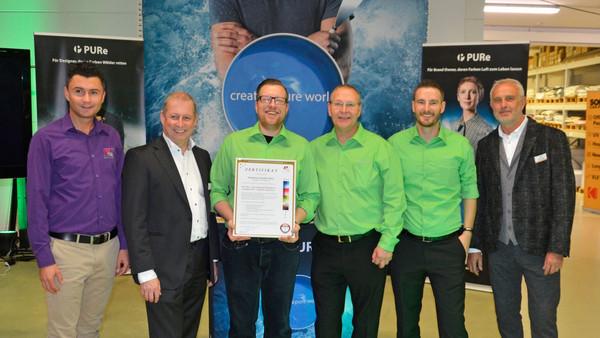 Weltweit erste Druckerei: Premium PSO Zertifikat mit PURe!