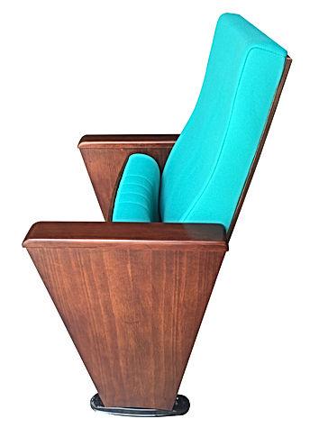 sırt,oturak ve ayaklar cilalı ahşap konferans koltuğu