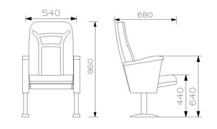 002 konferans koltuğu ölçüleri