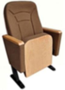 Oturak sırt arkası ve kolçaklar cilalı ahşap kaplı konferans koltuğu