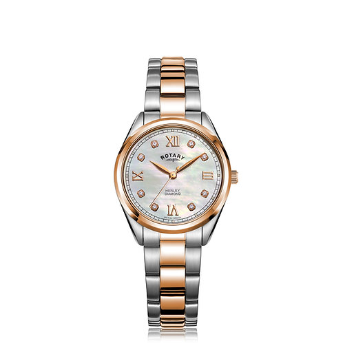 Rotary Henley Two Tone Rose Gold Watch