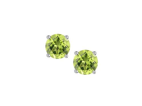 Peridot Sterling Silver Stud Earrings 5001SILPER