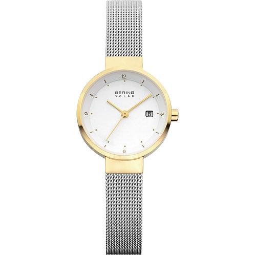 Bering Slim Solar Watch  Ladies Gold