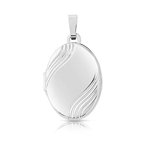 Oval White Gold Locket