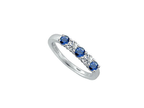 9ct White Gold Be Mine Ring 6181WD/S