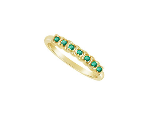 Yellow Gold Emerald Rhythm Eternity Ring 6968YE