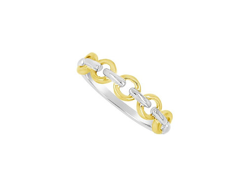 Yellow & White Gold Golden Lights Casual Ring 6957WY