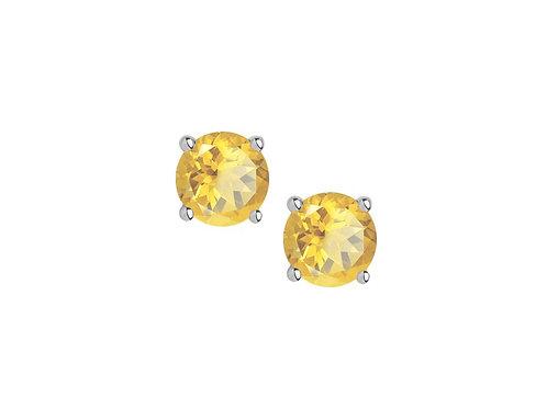 Citrine Sterling Silver Stud Earrings 5001ESILCT