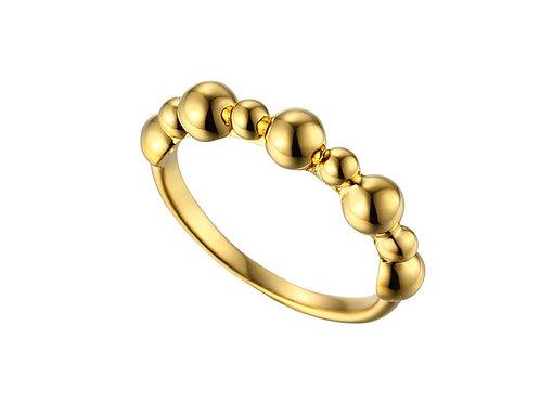 9ct Yellow Gold Adoro Grande Ring