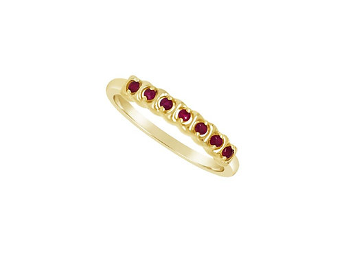 Yellow Gold Ruby Rhythm Eternity  Ring 6803YR