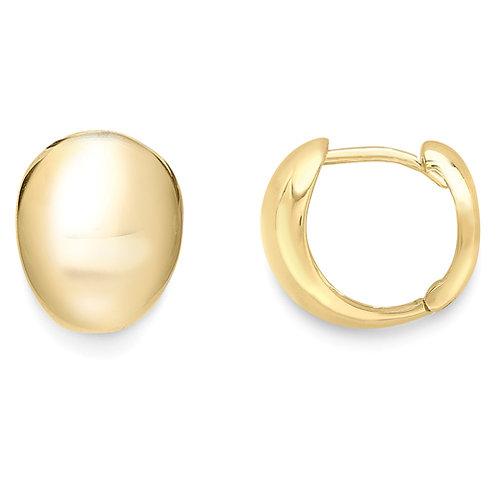 Elegant Yellow Gold Huggie Earrings
