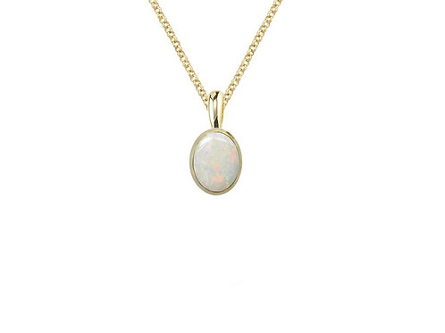 Yellow Gold Astral Opal Necklace Pendant 6290PYOP