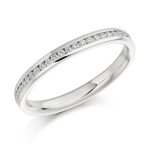 White gold Round Brilliant Cut Half Eternity Ring