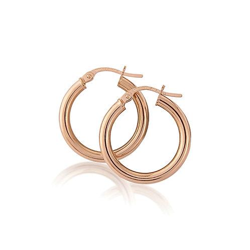 20mm Rose Gold Hoop Earrings