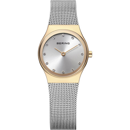 Bering Classic Polished Gold and Silver Watch 12927-010