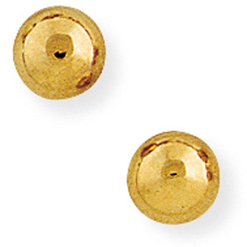 6mm Yellow Gold Stud Earrings