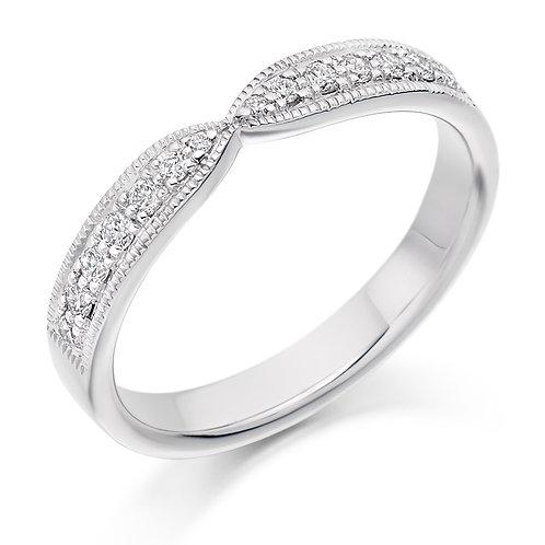 Shaped Half Eternity Ring