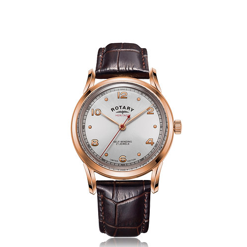 Rotary Heritage Rose Gold PVD Automatic Watch