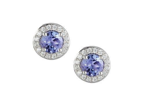 White Gold Tanzanite Diamond Snowdrops Earrings 8548WD/TZ
