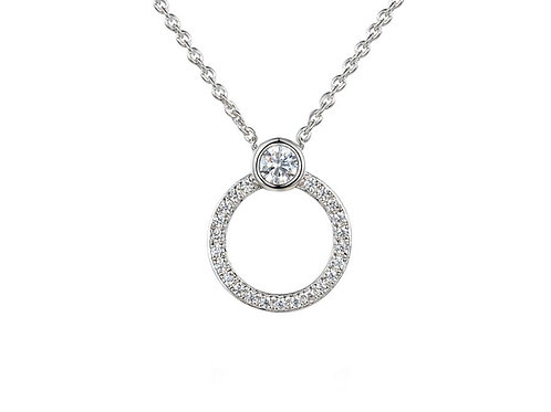 9ct White Gold My Gal Necklace 9298WD