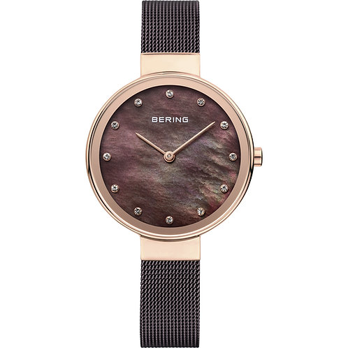 Bering Mother of Pear l Classic Rose Gold Watch | 12034-265