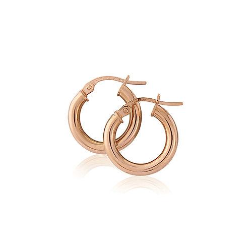 15mm Rose Gold Hoop Earrings