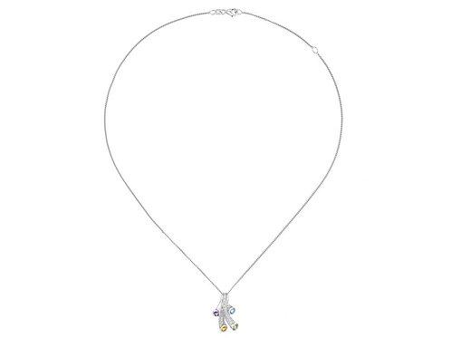 Tutti Frutti Silver Multi stone Necklace 9131SILCZBTAPC