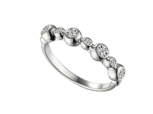 Adoro Piccolo 9ct White Gold Diamond Stacker Ring 8569WD