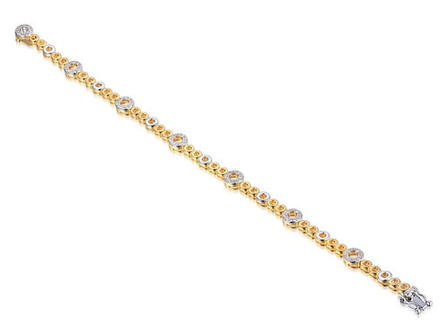 9ct Yellow & White Link of Passion Bracelet 9513YWD